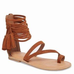 Jeffrey Campbell fringe sandals